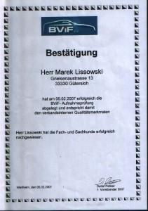 BVIF Aufnahmeprüfung Spot-Repair