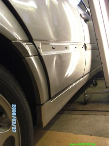 Mercedes C- Klasse Delle Tür VORHER 2