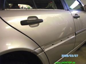 Mercedes C- Klasse Delle Tür NACHHER 2