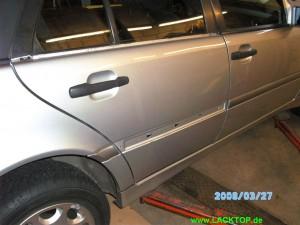 Mercedes C- Klasse Delle Tür NACHHER 3