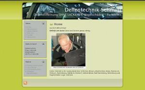 Dellentechnik Schmidt Webseite Screenshot