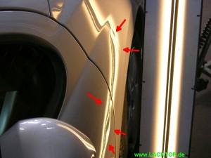 Delle Tür - Kotflügel vorne links vorher - Peugeot_Beulendoktor_001