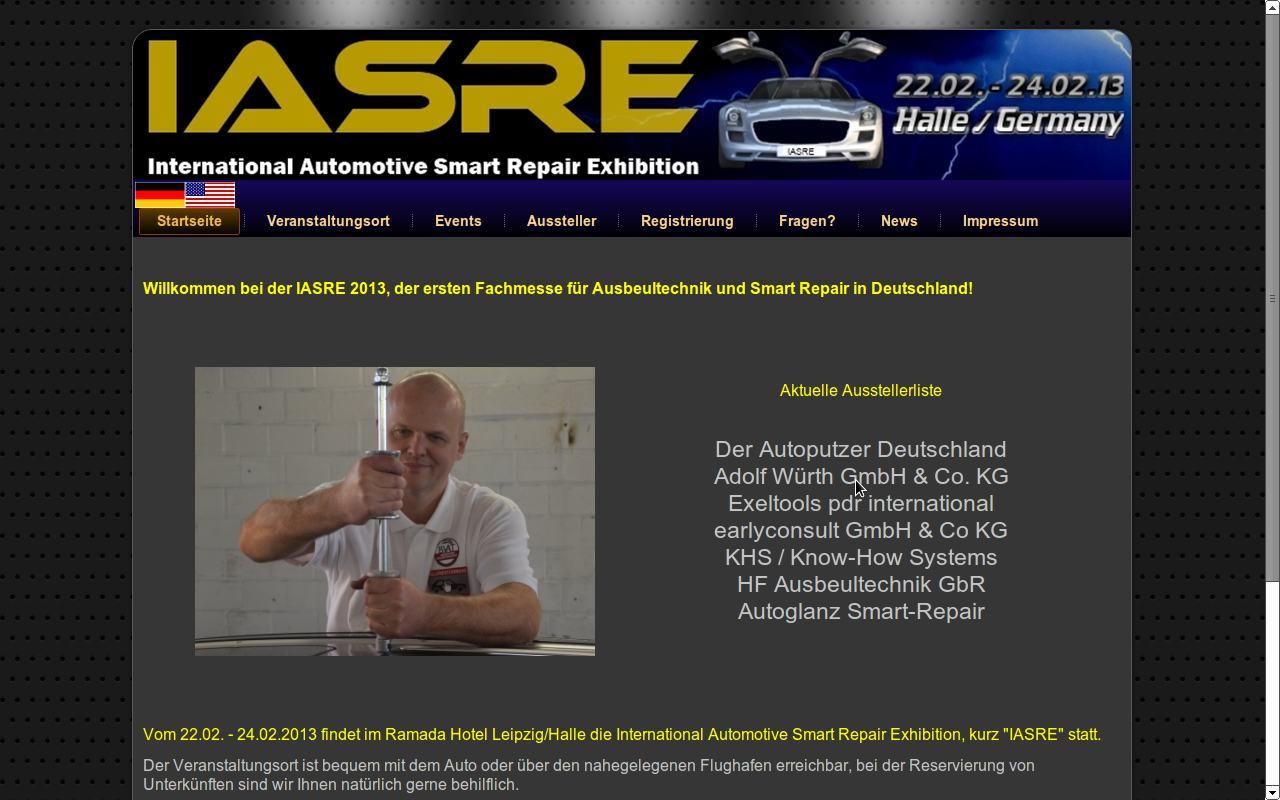 IASRE 2013 erste Fachmesse für Ausbeultechnik und Smart Repair 2
