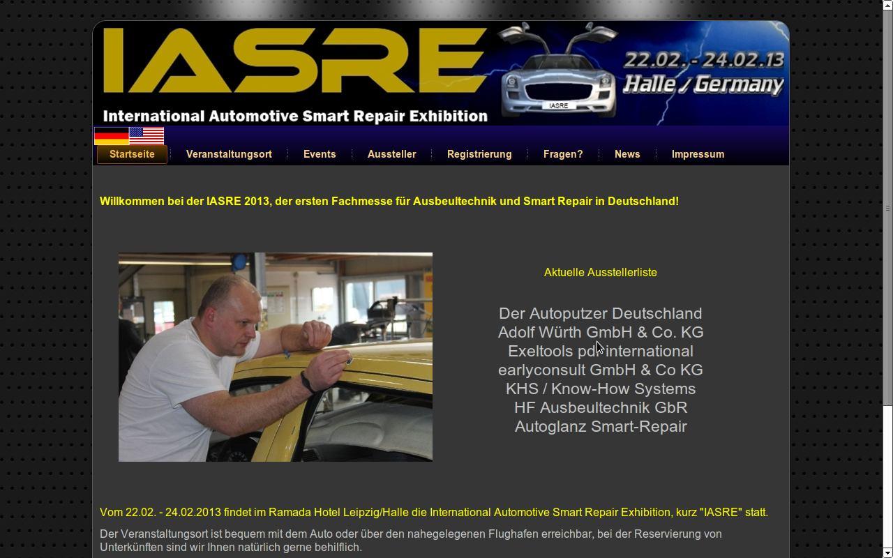 IASRE 2013 erste Fachmesse für Ausbeultechnik und Smart Repair
