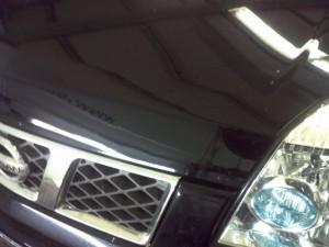 Delle Nissan Motorhaube NACHHER