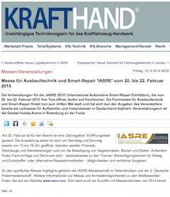 <!--:de-->KRAFTHAND berichtet über IASRE 2015<!--:-->
